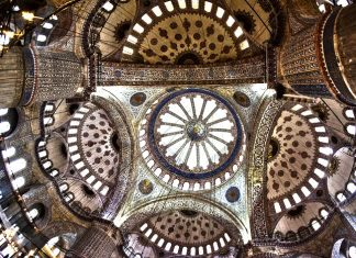 Guided Round Tours Turkey Istanbul Bursa Blue Mosque inner